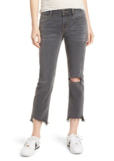 Current/Elliott The Cropped Straight Leg Jeans (Austen Destroy)