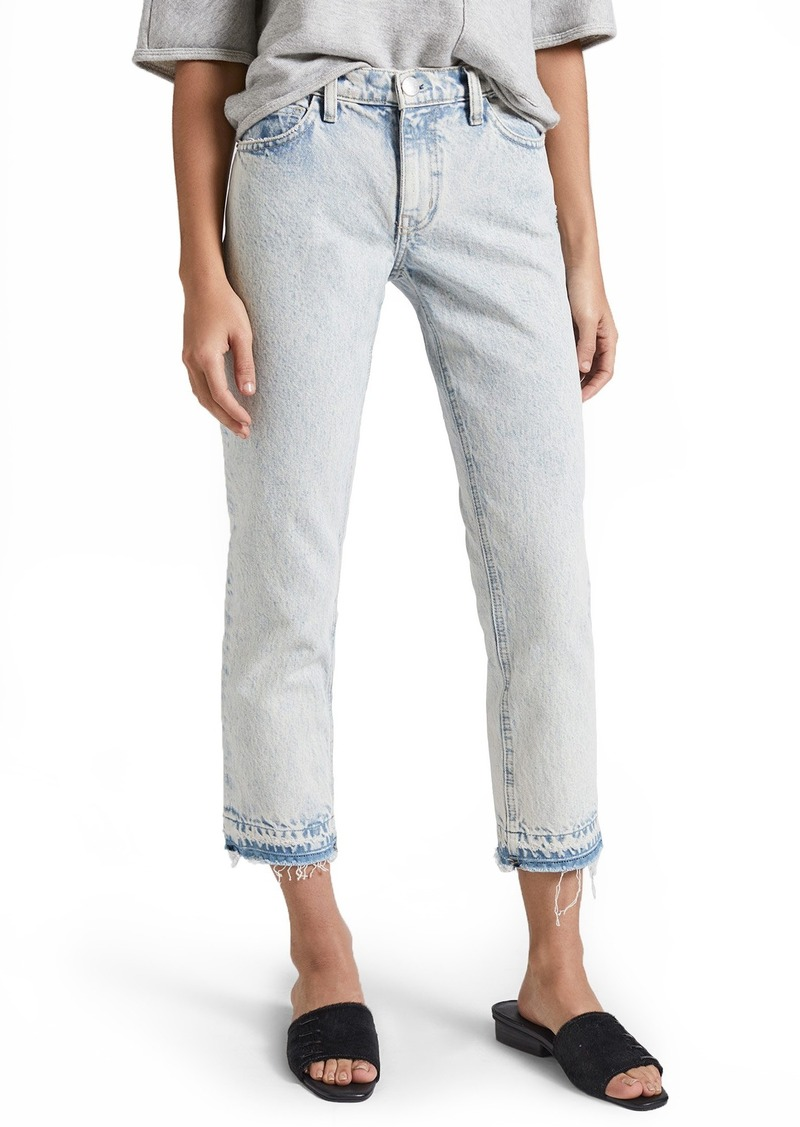 7ad955f1aee7af Current/Elliott The Cropped Straight Leg Jeans (Harding With Released Hem)