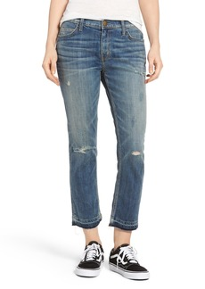 Current/Elliott The Cropped Straight Released Hem Jeans