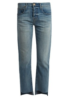 Current/Elliott The Crossover cropped boyfriend jeans