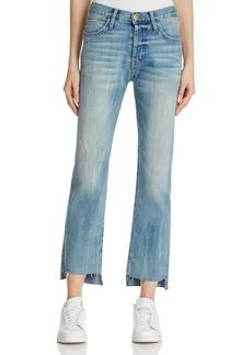 Current/Elliott The Crossover Cropped Jeans in First Loved Destroy