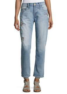 Current/Elliott The Crossover Harrison Jeans W/ Embroidery