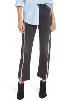 Current/Elliott The Dallon Zip High Waist Crop Straight Jeans (Highline)