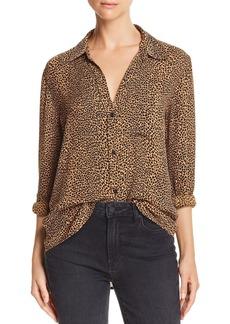 Current/Elliott The Derby Leopard Print Shirt