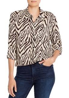 Current/Elliott The Derby Zebra Print Blouse - 100% Exclusive