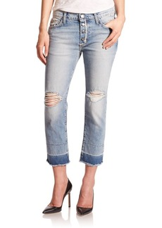 Current/Elliott The Distressed Fling Slim-Fit Boyfriend Jeans