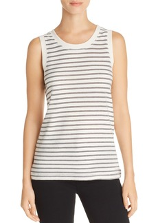 Current/Elliott The Easy Metallic-Stripe Muscle Tank