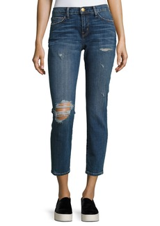 Current/Elliott The Easy Stiletto Love Destroy Cropped Skinny Jeans