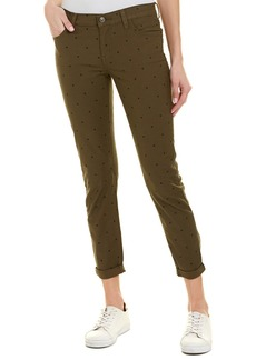 Current/Elliott The Easy Stiletto Rural Green Polka Dot Skinny Leg