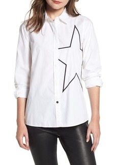 Current/Elliott The Elenora Star Embellishment Cotton Blouse