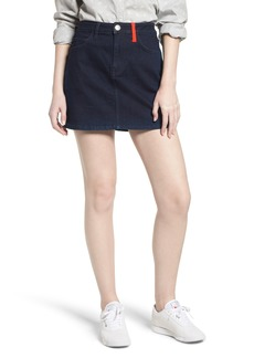 Current/Elliott The Five-Pocket Denim Miniskirt
