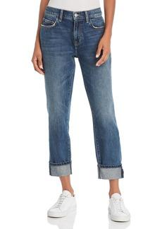 Current/Elliott The Fling Cropped Boyfriend Jeans in 1 Year Worn Rigid Indigo