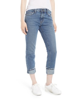 Current/Elliott The Fling Cuff Boyfriend Jeans (Grassland)
