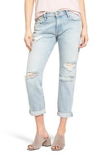 Current/Elliott The Fling Destroyed Rolled Jeans (Alta Destroy)