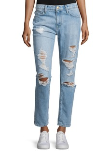 Current/Elliott The Fling Distressed Ankle Jeans