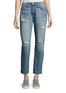 Current/Elliott The Fling Distressed Cropped Ankle Jeans
