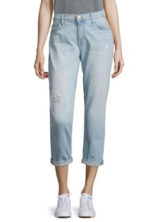 Current/Elliott The Fling Distressed Cuffed Boyfriend Jeans