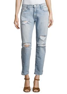 Current/Elliott The Fling Distressed Denim Jeans