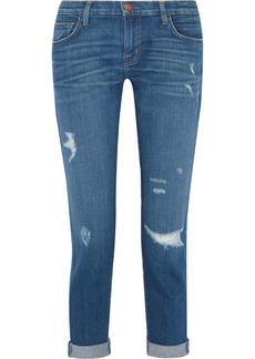 Current/Elliott The Fling distressed slim boyfriend jeans