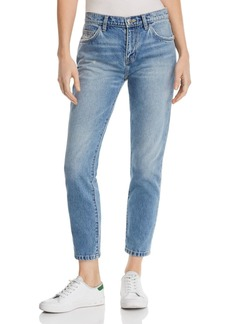 Current/Elliott The Fling High-Rise Straight-Leg Jeans in Bound
