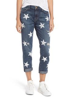 Current/Elliott The Fling High Waist Boyfriend Jeans (Loved Destroy with White Stars)