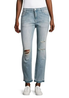 Current/Elliott The Fling Washed Distressed Jeans