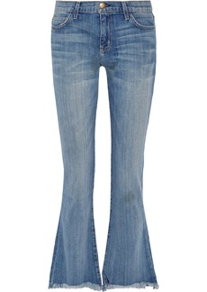 Current/Elliott The Flip Flop frayed low-rise flared jeans