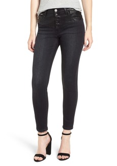 Current/Elliott The Fused Stiletto High Waist Skinny Jeans (Rocco with Leather Piecing)