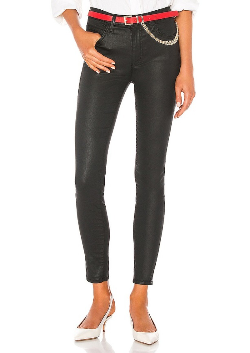 Current/Elliott The High Waist Ankle Skinny Coated