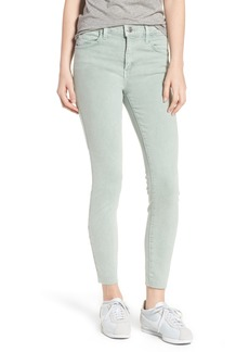 Current/Elliott The High Waist Ankle Skinny Jeans (Iceberg Green)