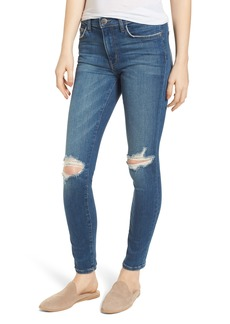 Current/Elliott The High Waist Ankle Skinny Jeans (Joey Dark Destroy)