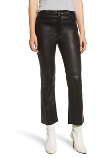Current/Elliott The High Waist Kick Leather Pants