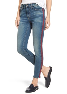 Current/Elliott The High Waist Stiletto Ankle Skinny Jeans (Powell/Applied Stripe)