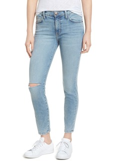 Current/Elliott The Stiletto High Waist Ankle Skinny Jeans (Seville Knee Slit Ripped)