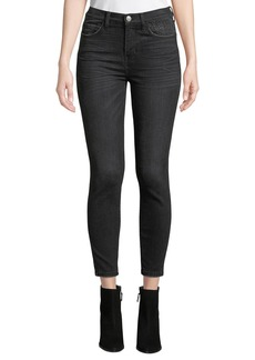 Current/Elliott The High Waist Stiletto Jeans with Embellishments