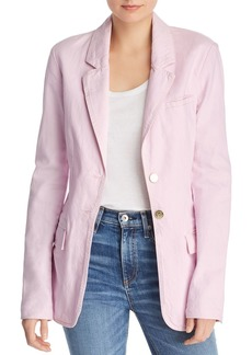 Current/Elliott The Highball Denim Blazer in Orchid
