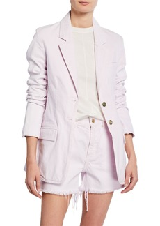 Current/Elliott The Highball Two-Button Cotton Blazer