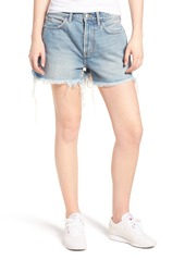 Current/Elliott The His Cutoff Denim Boyfriend Shorts (Jasper with Back Print)