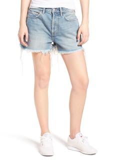 Current/Elliott The His Cutoff Denim Boyfriend Shorts (Jasper with Back Print)