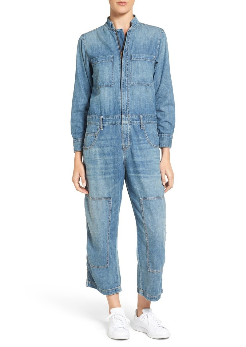 Current/Elliott The Janitor Denim Coveralls