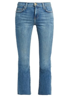 Current/Elliott The Kick mid-rise cropped jeans