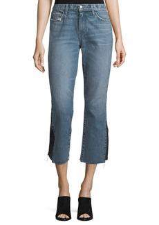 Current/Elliott The Kick Mid-Rise Straight-Leg Jeans w/ Insert