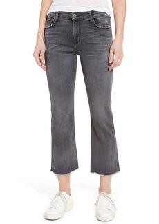 Current/Elliott The Kick Raw Hem Crop Jeans (Everett)