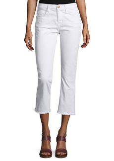 Current/Elliott The Kick Slim-Fit Cropped Jeans