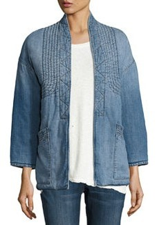 Current/Elliott The Kimono Denim Car Coat