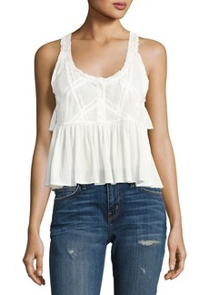 Current/Elliott The Lace Sleeveless Cotton Top