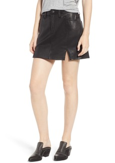 Current/Elliott The Leather Miniskirt