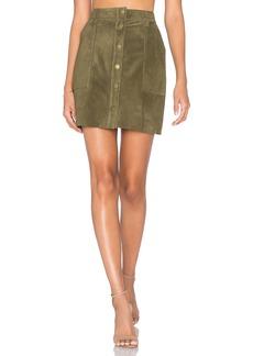 Current/Elliott The Leather Naval Skirt