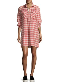 Current/Elliott The Levee Western Plaid Mini Dress