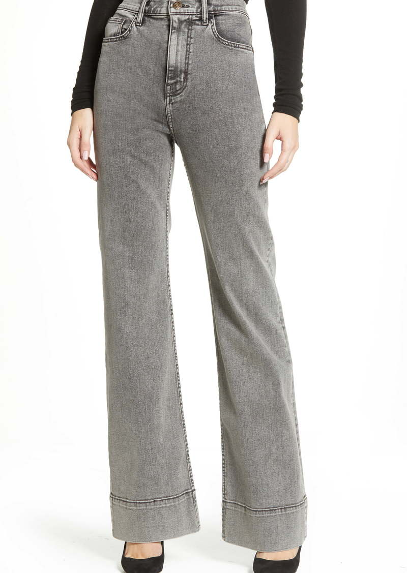 Current/Elliott The Maritime High Waist Wide Leg Jeans (Smoke Wash)